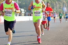 Xiamen International Marathon runners Royalty Free Stock Photo