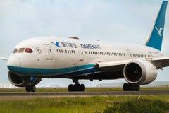Xiamen luftBoeing 787 Dreamliner flygplan Arkivbild