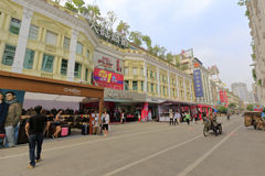 Xiamen mainland commercial buildings by zhongshan road. Mainland commercial building by zhongshan road pedestrian street,  xiamen city, china Stock Photography