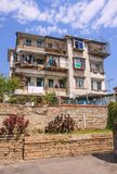 Old apartment building at Gulangyu, a pedestrian-only island off the coast of Xiamen, China Stock Images