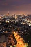 Xiamen miasta nocy scena, Chiny zdjęcie royalty free