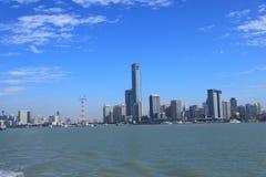 Xiamen miasto i schronienie fotografia royalty free