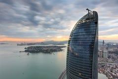 Xiamen Petronas Twin Towers Scene, China Stock Photo