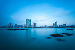 Xiamen skyline at dusk Stock Photos