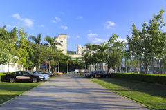 Xiamen sports center parking lot Stock Photography