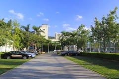 Xiamen sports center parking lot Stock Photography