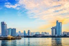 Xiamen stadslandskap arkivfoton