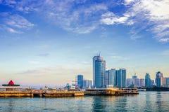 Xiamen stadslandskap royaltyfria bilder
