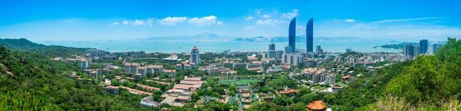 Xiamen stadspanorama Fotografering för Bildbyråer