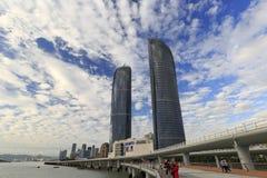 Xiamen tweelingwolkenkrabbers Royalty-vrije Stock Afbeelding