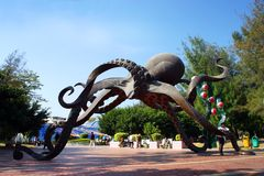 Xiamen Underwater World park, octopus sculpture Royalty Free Stock Photography