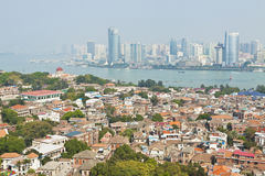 Xiamen view from Gulangyu Island, China. Stock Photography
