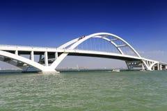 Xiamen wuyuan bridge. Wuyuanwan bay cross sea bridge, xiamen city, china. wuyuan bridge length 810 meters, 34.9 meters wide. the main bridge is the steel Royalty Free Stock Photography