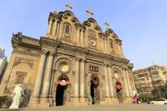 xian市,瓷Wuxingjie教会  免版税库存图片