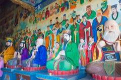 XIAN, ΚΊΝΑ - 11 ΝΟΕΜΒΡΊΟΥ 2014: Τα αγάλματα στο νότο τοποθετούν Wutai (Nanwutai Στοκ φωτογραφία με δικαίωμα ελεύθερης χρήσης
