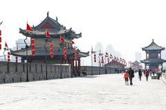 На стене Xian, Китай Стоковая Фотография