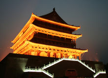 Xian. Old drum tower in the ancient Chinese city of Xian Royalty Free Stock Photos