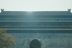 Xian Ancient City Wall royalty free stock photo