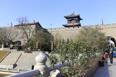 Xian ancient city in winter Royalty Free Stock Photo