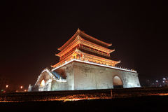 Xian bell tower in night after rain Stock Photo