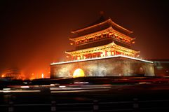 Xian Bell Tower night scenes Royalty Free Stock Images