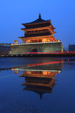 Xian bell tower sunrise Royalty Free Stock Photography