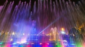 Xian bij nacht, reuze wilde ganspagode Stock Afbeelding