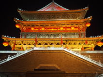 Xian, China The bell tower. The bell tower of the night is so beautiful It contains a history of one hundred years Royalty Free Stock Photography