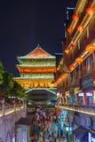 Xian, China - 19 de maio de 2018: Torre do cilindro na cidade velha foto de stock royalty free