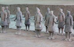 XIAN, CHINA -11 im März 2017 - Ansicht des Terrakotta-Armee-Soldaten a stockbild