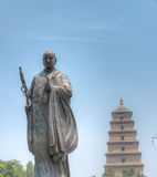 XIAN, CHINA - Jun 23 2014: Giant Wild Goose Pagoda. This is World heritage site. royalty free stock photo