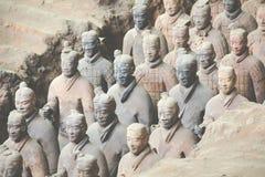 XIAN, CHINA - MEI 24, 2018: De strijders van het Terracottaleger bij royalty-vrije stock afbeeldingen