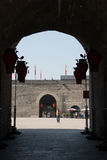 XIAN, CHINA - OCT 23 2014: City Wall of Xi'an. a famous Historic Royalty Free Stock Images