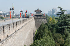 XIAN, CHINA - OCT 23 2014: City Wall of Xi'an. a famous Historic Royalty Free Stock Photos