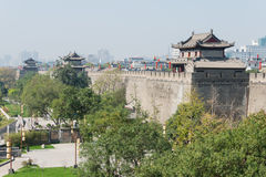 XIAN, CHINA - OCT 23 2014: City Wall of Xi'an. a famous Historic Stock Photography