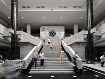 Xian China-The stairs of the exhibition hall Royalty Free Stock Image