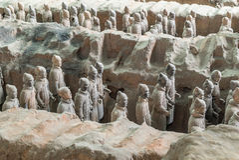 Xian China Terra Cotta Warriors Arkivfoto