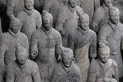 Xian China-Terracotta Army Soldiers Horses Imagem de Stock Royalty Free