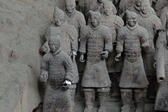 Xian China-Terracotta Army Soldiers Horses Stock Photos