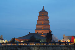 Xian Chinese wild goose pagoda Royalty Free Stock Images