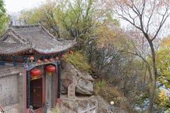 XIAN CHINY, NOV, - 11 2014: Południe góra Wutai (Nanwutai) sławny obraz royalty free