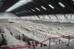 Xian City China Landschaften der Stadt und seiner Umgebung, Aushöhlungen der Terrakotta-Armee lizenzfreie stockfotos