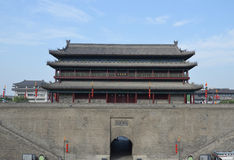 Xian City Wall and Buildings Royalty Free Stock Photography