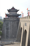 Xian City Wall and Buildings Royalty Free Stock Photo