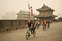 Xian City Wall Royalty Free Stock Photo