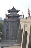 Xian City Wall und Gebäude Lizenzfreies Stockfoto