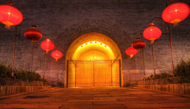 Xian city wall west gate Royalty Free Stock Photo