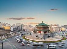 Xian cityscape at dusk Royalty Free Stock Photos