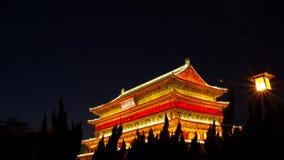 Xian de torens van de kloktrommel Stock Fotografie