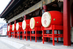 Xian Drum and Bell Tower Royalty Free Stock Image